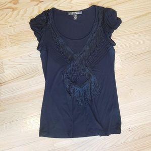 😍 KISCHE top with fringe design, medium😍
